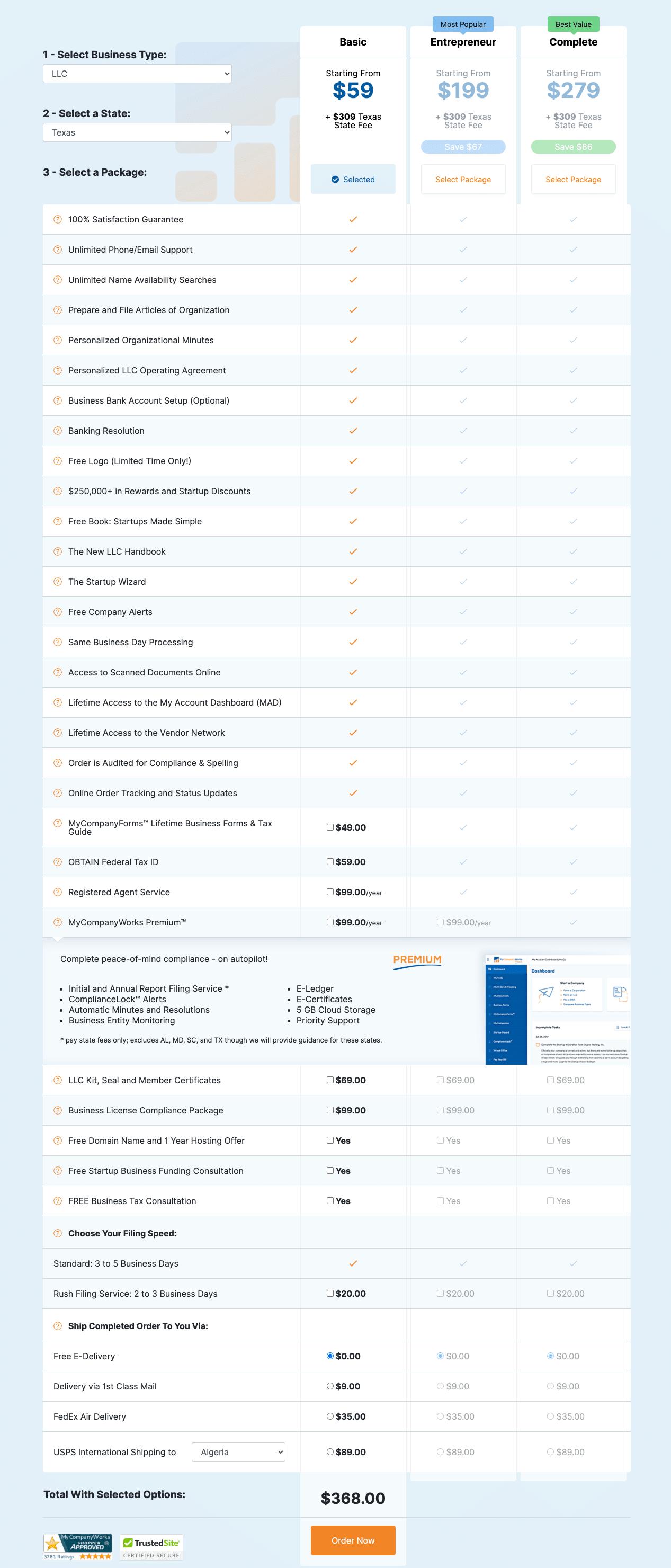 my company works price